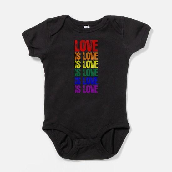 Love is Love is Love Baby Bodysuit