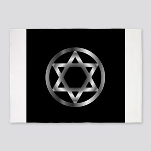 The seal of Solomon- a magical symb 5'x7'Area Rug