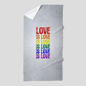 Love is Love is Love Beach Towel