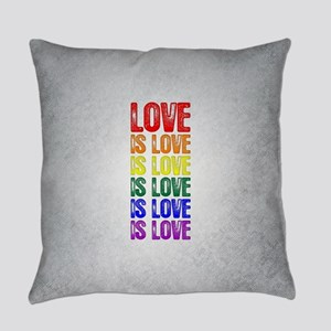 Love is Love is Love Everyday Pillow