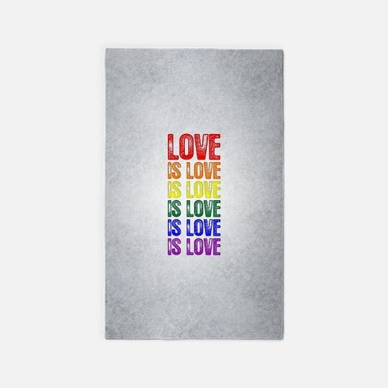 Love is Love is Love Area Rug