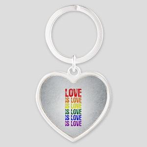 Love is Love is Love Heart Keychain