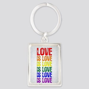 Love is Love is Love Portrait Keychain