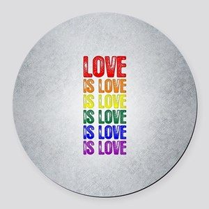 Love is Love is Love Round Car Magnet