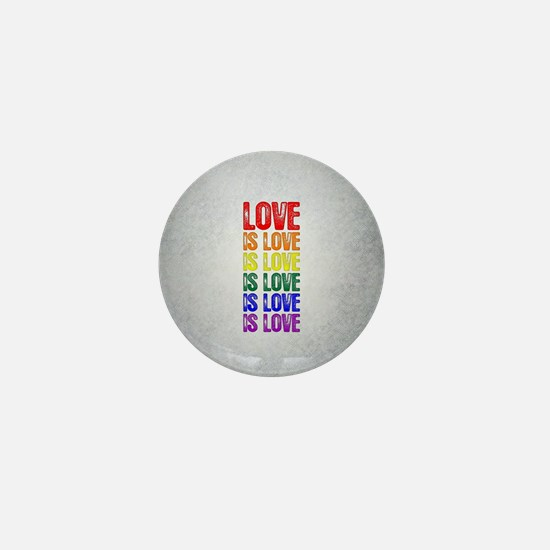 Love is Love is Love Mini Button