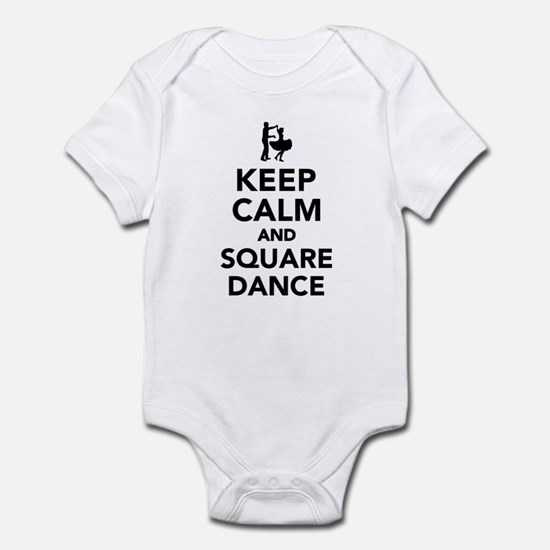 Keep calm and square dance Infant Bodysuit