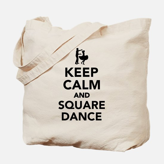 Keep calm and square dance Tote Bag