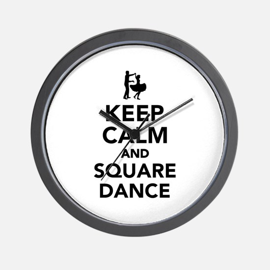 Keep calm and square dance Wall Clock