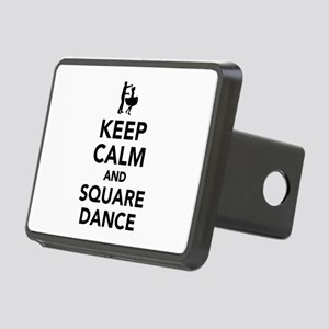 Keep calm and square dance Rectangular Hitch Cover