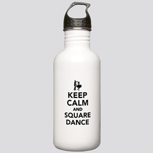 Keep calm and square d Stainless Water Bottle 1.0L