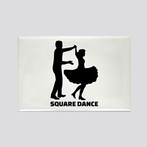 Square dance Rectangle Magnet