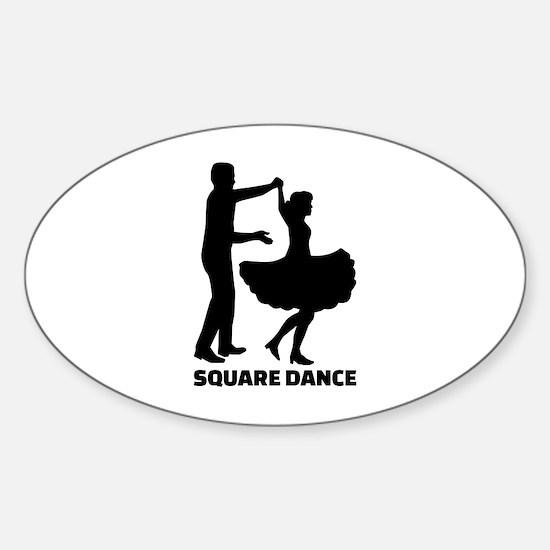 Square dance Sticker (Oval)