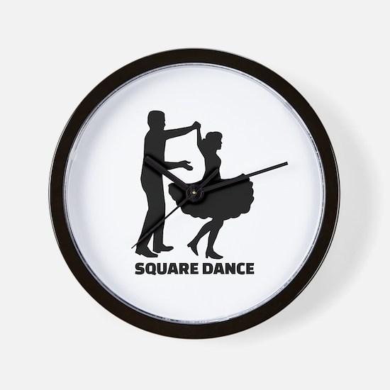 Square dance Wall Clock
