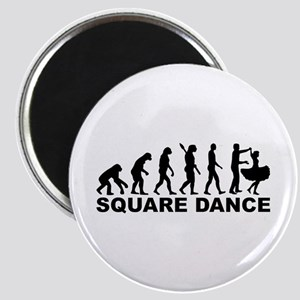 Evolution square dance Magnet