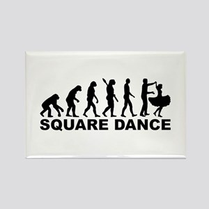 Evolution square dance Rectangle Magnet
