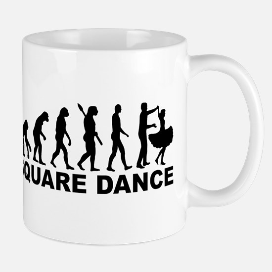 Evolution square dance Mug