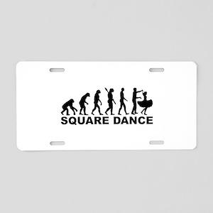 Evolution square dance Aluminum License Plate