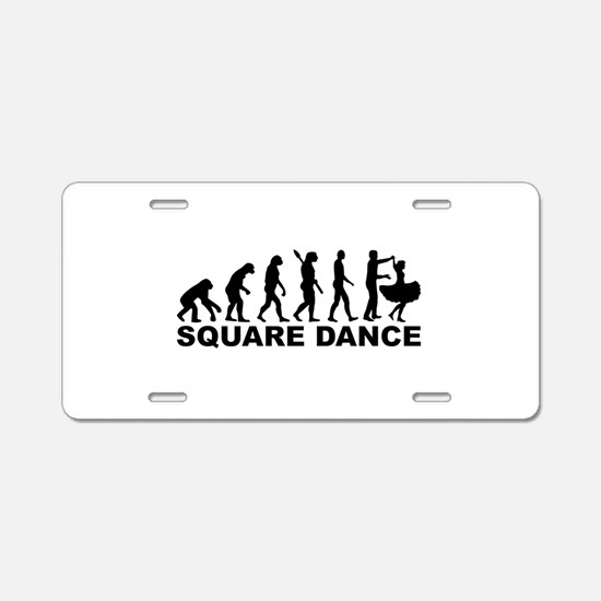 Evolution square dance Aluminum License Plate