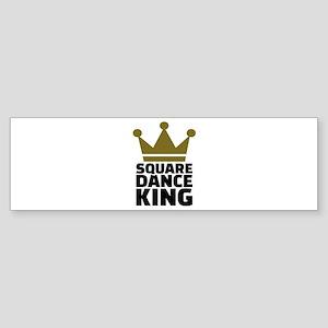 Square dance king Sticker (Bumper)