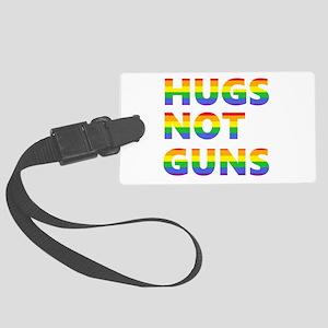 Hugs not Guns Large Luggage Tag