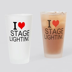 I Love Stage Lighting Drinking Glass