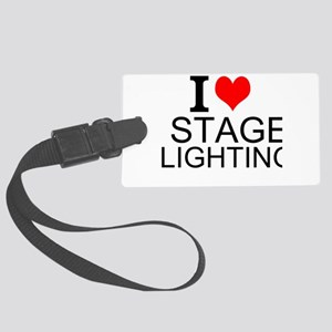 I Love Stage Lighting Luggage Tag