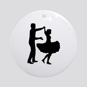 Square dancing Round Ornament