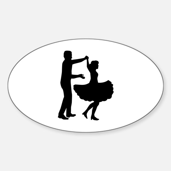 Square dancing Sticker (Oval)