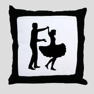 Square dancing Throw Pillow