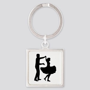 Square dancing Square Keychain