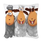 Sheep Woven Throw Pillow
