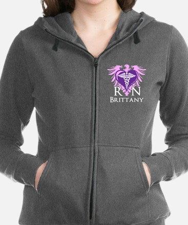 Personalized RN Crest Women's Zip Hoodie