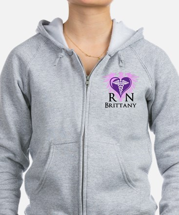 Personalized RN Crest Zip Hoodie