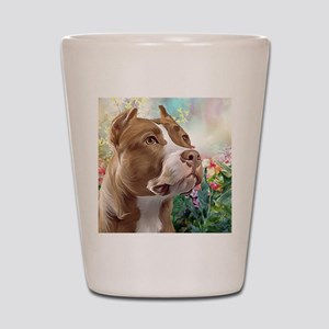 Pit Bull Painting Shot Glass