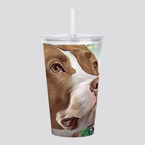 Pit Bull Painting Acrylic Double-wall Tumbler