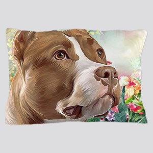Pit Bull Painting Pillow Case