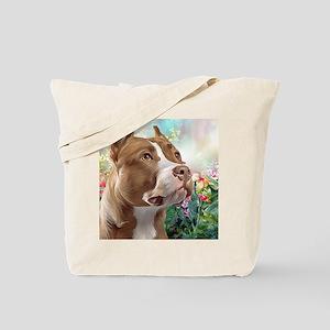 Pit Bull Painting Tote Bag