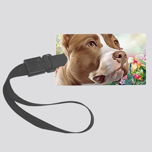 Pit Bull Painting Luggage Tag