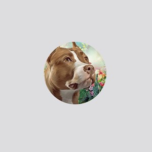 Pit Bull Painting Mini Button