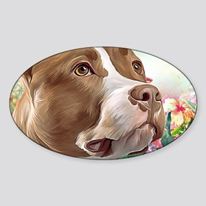 Pit Bull Painting Sticker
