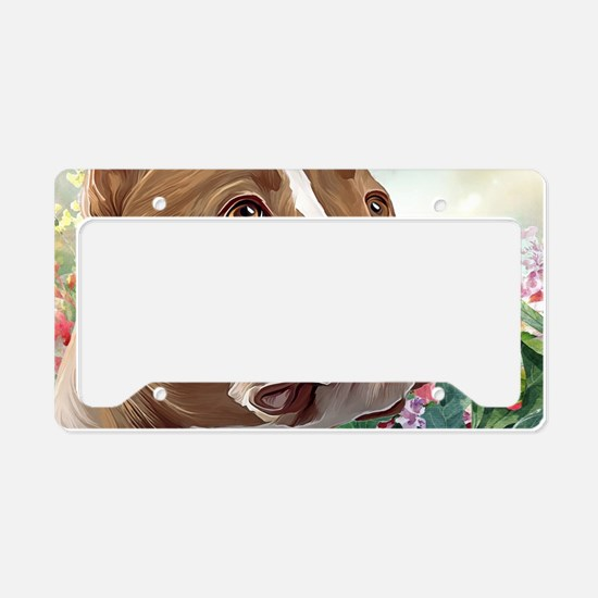 Pit Bull Painting License Plate Holder