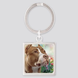 Pit Bull Painting Keychains