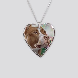 Pit Bull Painting Necklace