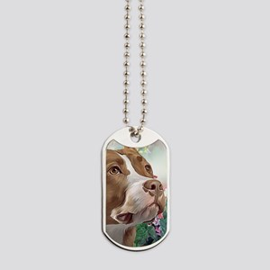Pit Bull Painting Dog Tags