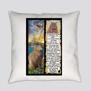 Capybara FUN Property Laws & Rules Everyday Pillow