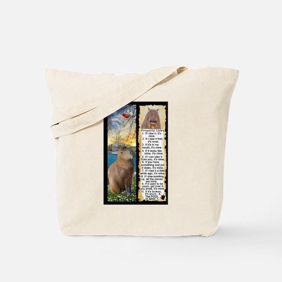 Capybara FUN Property Laws & Rules Tote Bag