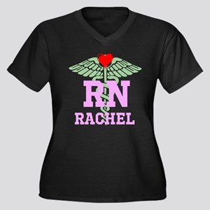 Personalized RN heart caduceus Plus Size T-Shirt
