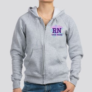 RN swirl with personalized name Zip Hoodie