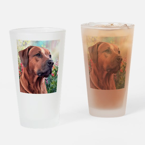 Rhodesian Ridgeback Painting Drinking Glass