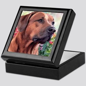 Rhodesian Ridgeback Painting Keepsake Box